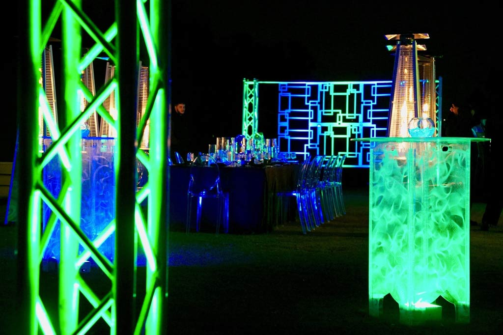 modern event lighting