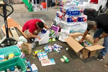 GS crew sorts and packs for victims of Hurricane Harvey